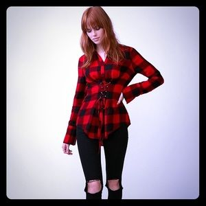 Express Flannel Corset Top